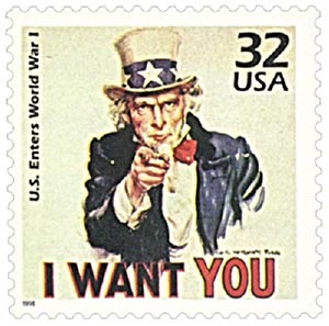 1998 32c Celebrate the Century - 1910s: U.S. Enters World War I