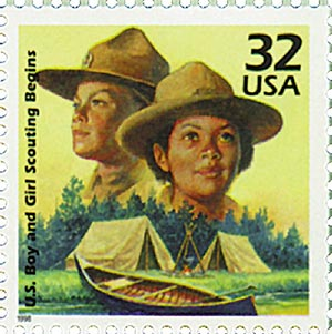 1998 32c Celebrate the Century - 1910s: Boy and Girl Scouting