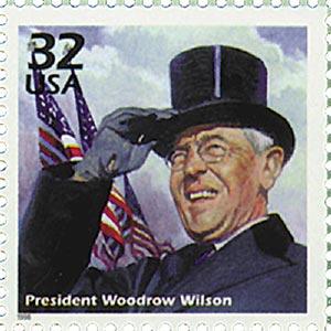 1998 32c Celebrate the Century - 1910s: President Woodrow Wilson