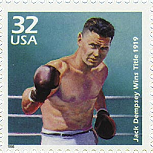 1998 32c Celebrate the Century - 1910s: Jack Dempsey Wins Title