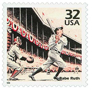 1998 32c Celebrate the Century - 1920s: Babe Ruth