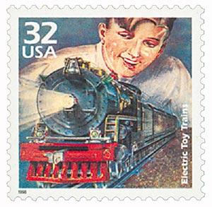1998 32c Toy Trains single CTC pane