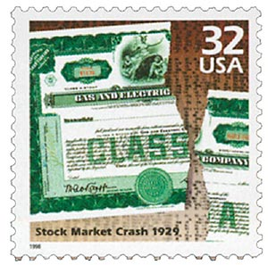 1998 32c Celebrate the Century - 1920s: Stock Market