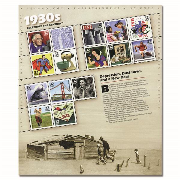 1998 32c Celebrate the Century: 1930s