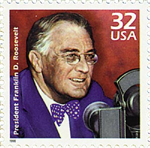 1998 32c Celebrate the Century - 1930s: Franklin D. Roosevelt