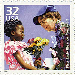 1998 32c Celebrate the Century - 1930s: Eleanor Roosevelt