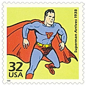 1998 32c Superman arrives-single