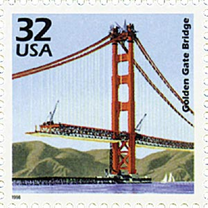 1998 32c Celebrate the Century - 1930s: Golden Gate Bridge