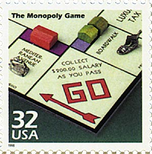 1998 32c Celebrate the Century - 1930s: The Monopoly Game