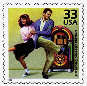 1999 33c Celebrate the Century - 1940s: Jitterbug Sweeps Nation