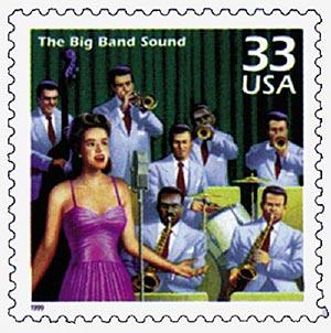 1999 33c Celebrate the Century - 1940s: The Big Band Sound