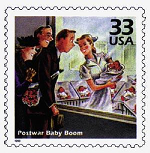 1999 33c Celebrate the Century - 1940s:  Postwar Baby Boom