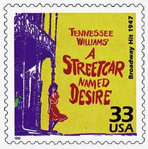 """1999 33c Celebrate the Century - 1940s: """"A Streetcar Named Desire"""" - Broadway Hit 1947"""