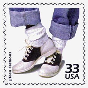 1999 33c Celebrate the Century - 1950s: Teen Fashion