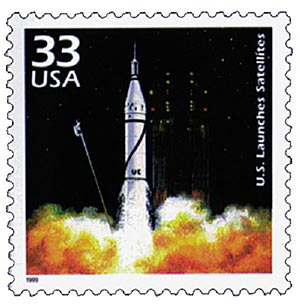 1999 33c Celebrate the Century - 1950s: U.S. Launches Satellites