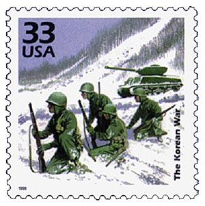 1999 Celebrate the Century Korean War stamp