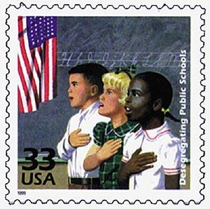 1999 33c Celebrate the Century - 1950s: Public School Desegregation