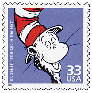 1999 33c Celebrate the Century - 1950s: Dr. Suess Cat in the Hat