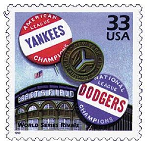1999 33c Celebrate the Century - 1950s: World Series Rivals