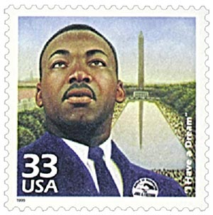 "1999 33c Celebrate the Century - 1960s: ""I Have a Dream"""