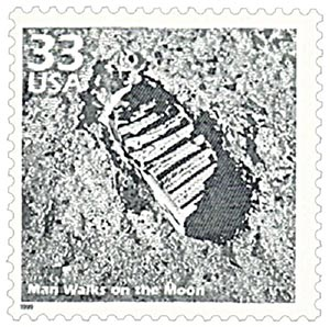 1999 33c Celebrate the Century - 1960s: Man Walks on Moon