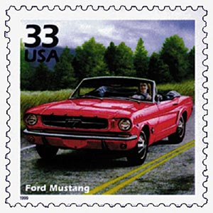 1999 33c Celebrate the Century - 1960s: Ford Mustang