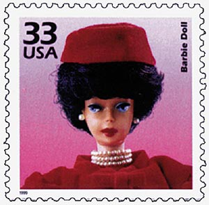 1999 33c Celebrate the Century - 1960s: Barbie Doll