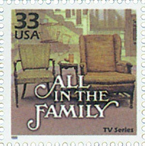 "1999 33c Celebrate the Century - 1970s: TV Series ""All in the Family"""