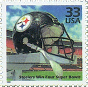 1999 33c Celebrate the Century - 1970s:  Pittsburgh Steelers Win Four Superbowls