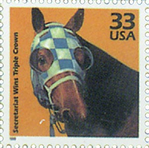 1999 33c Celebrate the Century - 1970s: Secretariat Wind Triple Crown