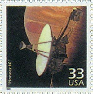 """1999 33c Celebrate the Century - 1970s: """"Pioneer 10"""""""