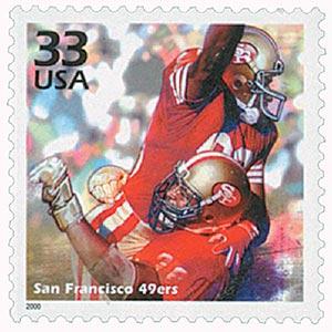 2000 33c Celebrate the Century - 1980s: San Francisco 49ers