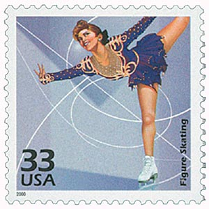 2000 33c Celebrate the Century - 1980s: Figure Skating