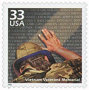2000 33c Celebrate the Century - 1980s: Vietnam Veterans Memorial