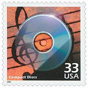 2000 33c Celebrate the Century - 1980s: Compact Discs