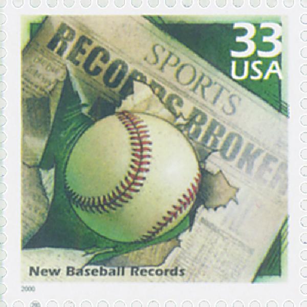 2000 33c Celebrate the Century - 1990s: New Baseball Records