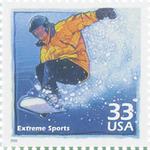 2000 33c Celebrate the Century - 1990s: Extreme Sports
