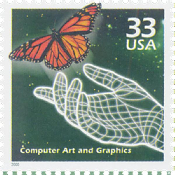 2000 33c Celebrate the Century - 1990s: Computer Art and Graphics