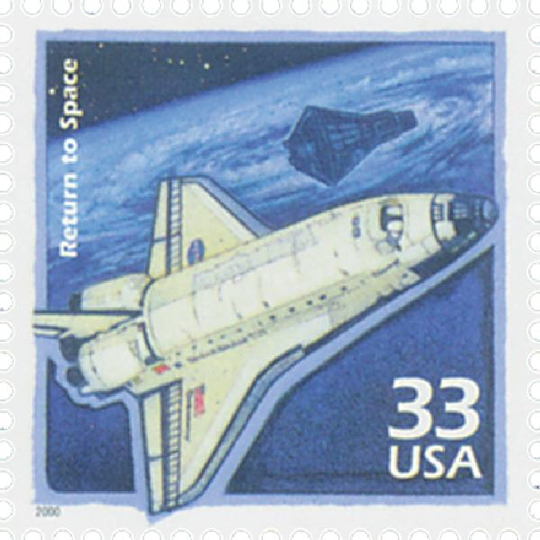 2000 33c Celebrate the Century - 1990s: Return to Space