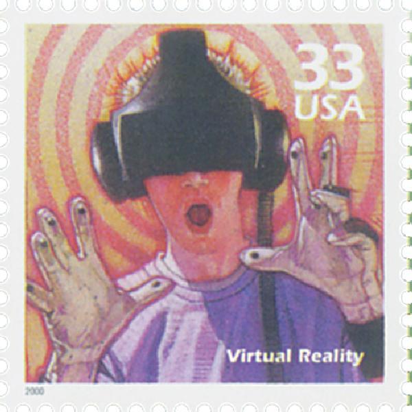 2000 33c Celebrate the Century - 1990s: Virtual Reality