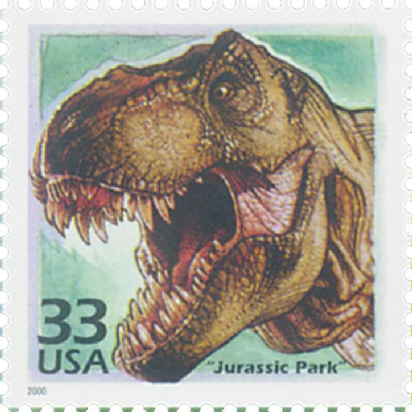 2000 33c Celebrate the Century - 1990s: 'Jurassic Park'