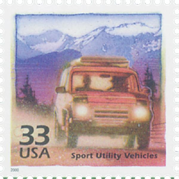 2000 33c Celebrate the Century - 1990s: Sports Utility Vehicles