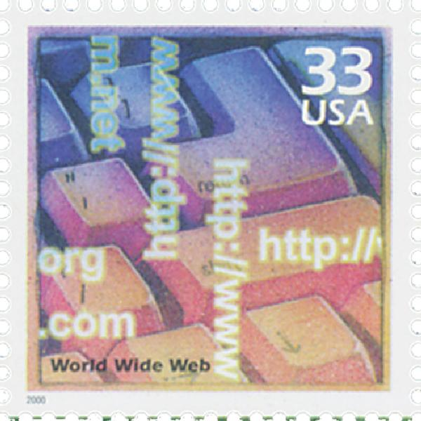 2000 33c Celebrate the Century - 1990s: World Wide Web