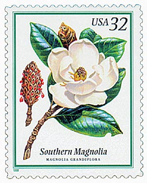 1998 32c Flowering Trees: Southern Magnolia