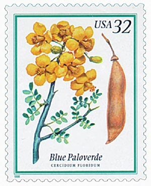 1998 32c Flowering Trees: Blue Paloverde