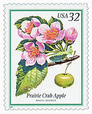 1998 32c Flowering Trees: Prairie Crab Apple