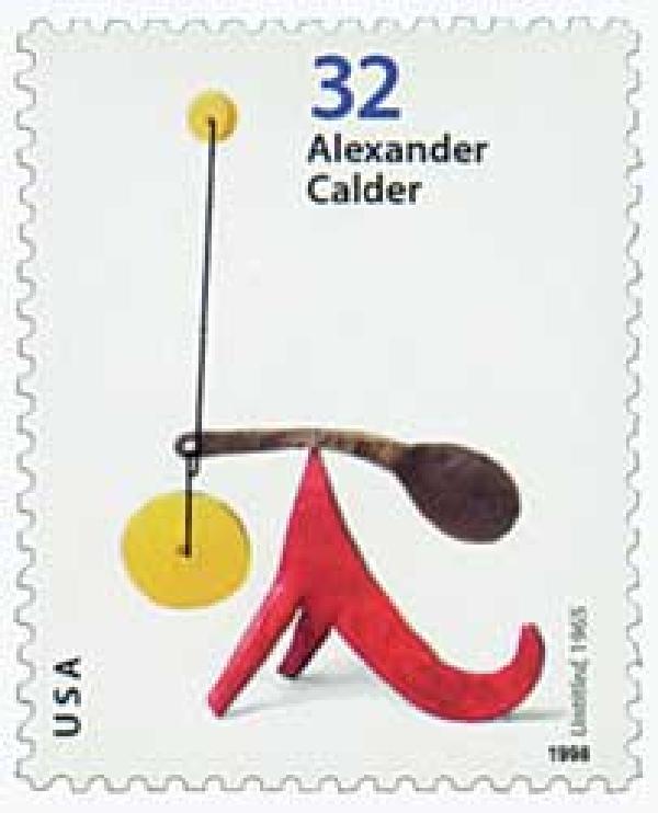 """1998 32c Alexander Calder: """"Untitled"""""""
