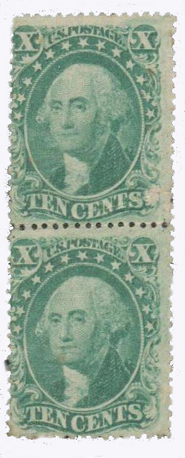 1857-61 10c Washington, T2 & T3
