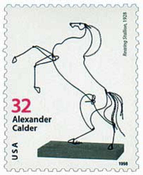 1998 32c Alexander Calder: Rearing Stallion