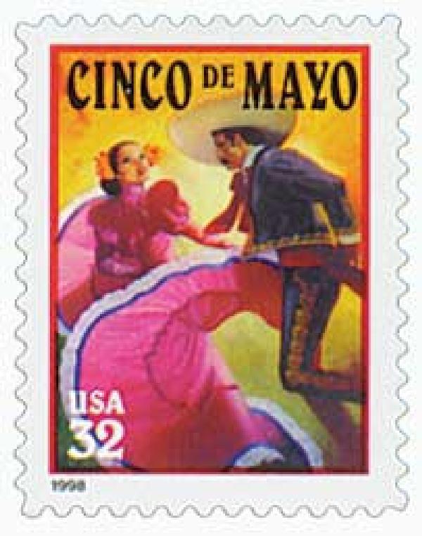 1998 32c Cinco de Mayo